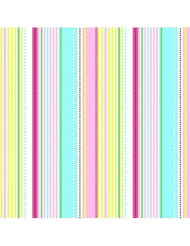 Tkanina bawełniana Multi Stripe