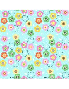 Tkanina bawełniana Blue Floral