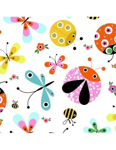 Tkanina bawełniana Multi Ladybugs