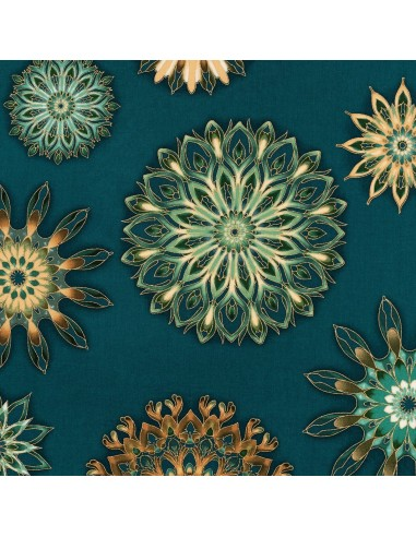 Teal Medallion Metallic Robert...
