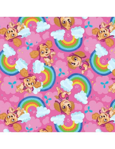 Tkanina bawełniana Psi Patrol Rainbow Sky