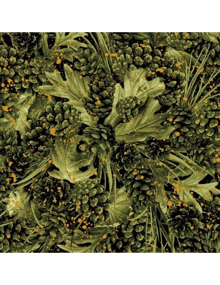 Tkanina bawełniana Green Pinecones