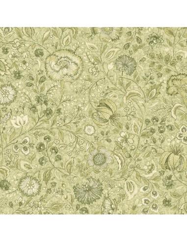 Tkanina bawełniana Green Floral