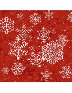 Lacey Snowflakes Red Henry...