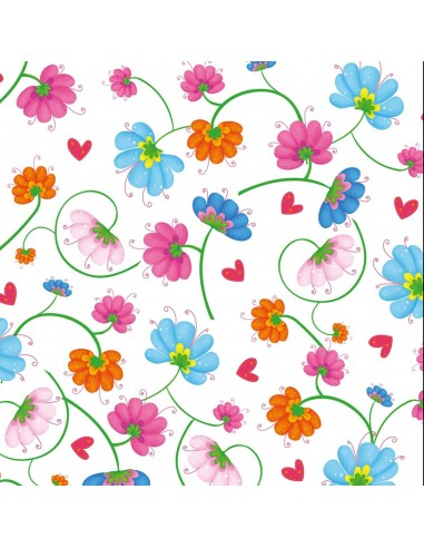 Busy Bees White Multi Flowers Henry...