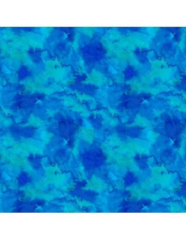 Tkanina bawełniana Blue Water Texture