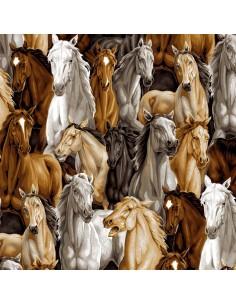 Multi Allover Horses cotton...
