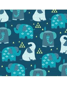 Boho Baby: Dark Blue Elephants