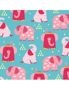 Boho Baby: Aqua Elephants