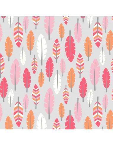 Tkanina bawełniana Pink Feathers