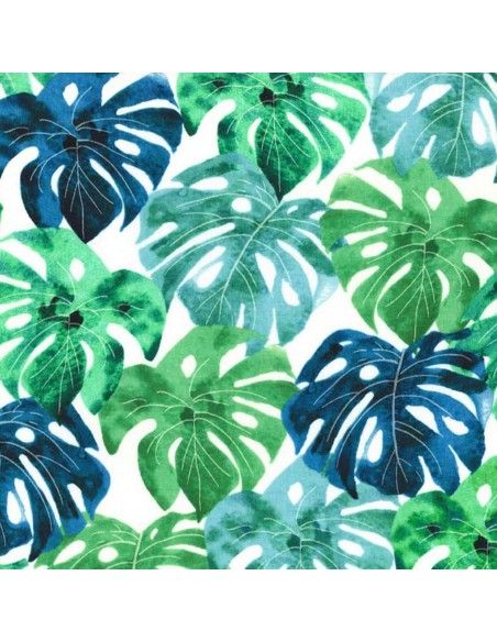 Garden Isle Luscious Leaves Michael Miller cotton fabric