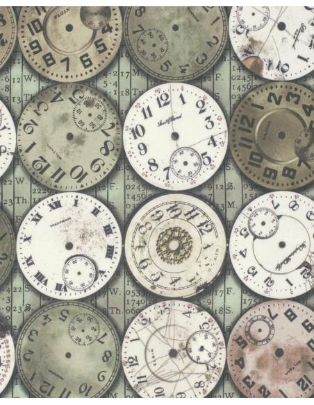 Tkanina bawełniana Timepieces