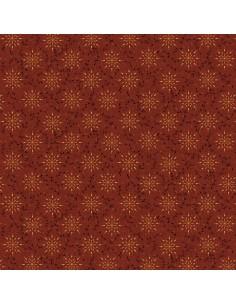Deep Red Starburst cotton...