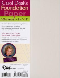 Foundation Paper Carol Doak