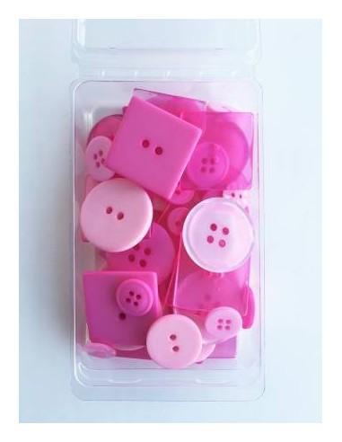 Zestaw 55 guzików Party Pack Bubblegum