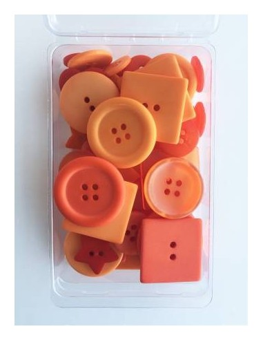 Zestaw 55 guzików Party Pack Orange You Glad