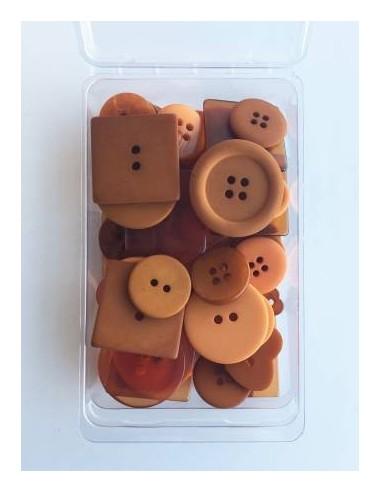 Zestaw 55 guzików Party Pack Ginger