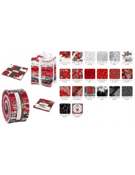 Charm pack Holiday Flourish 12 Scarlet