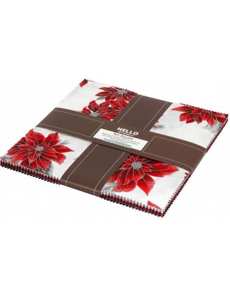 Layer cake Holiday Flourish 12 Scarlet