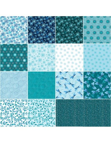 Zestaw 15 FQ Pearl Reflections Teal