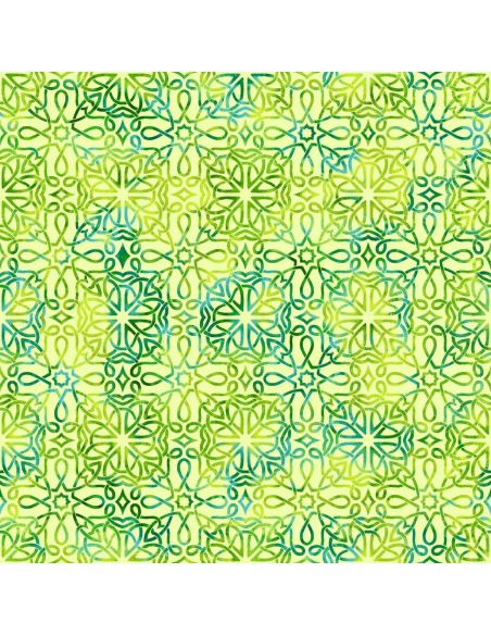 Green Celtic Knot Texture cotton fabric