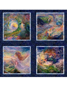 Multi Ray of Hope Small cotton fabric panel
