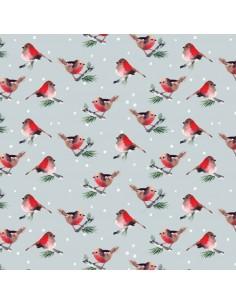 Grey Birds cotton fabric