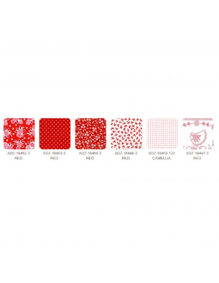 Charm pack Southern Belles Redwork