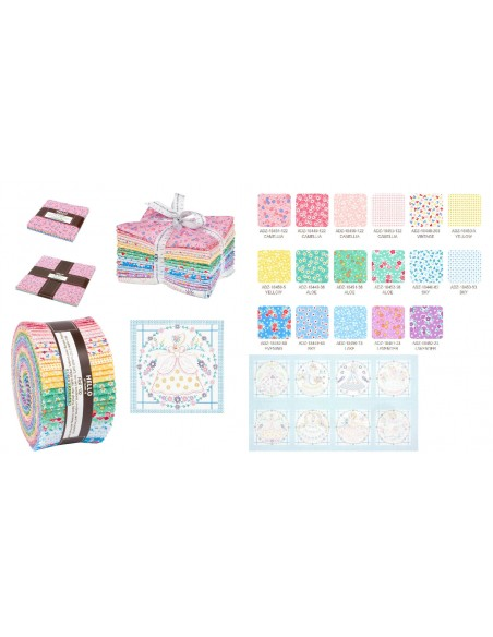 Charm pack Southern Belles Multi