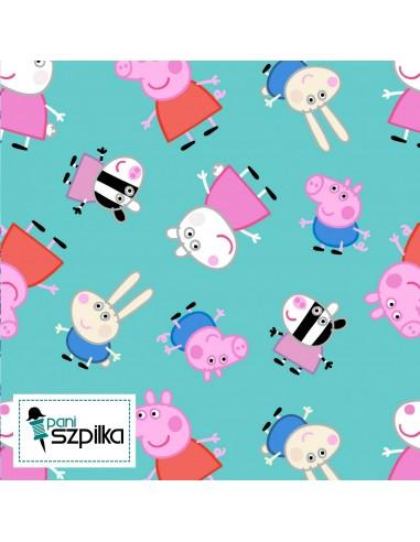 Tkanina bawełniana Świnka Peppa Friends