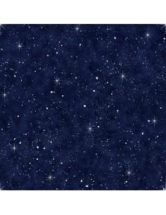 Navy Night Sky cotton fabric
