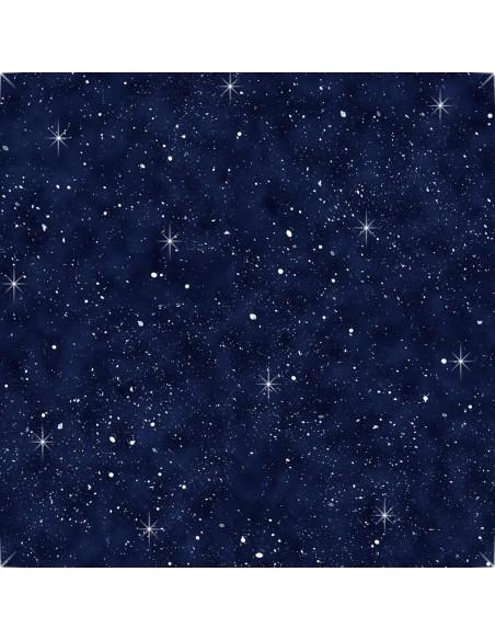 Tkanina bawełniana Navy Night Sky