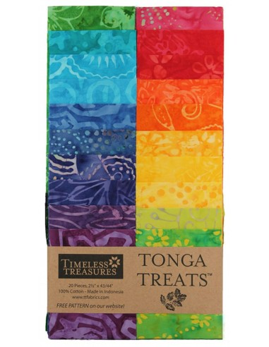 Jelly Roll Tonga Batik Vivid 20 pasków
