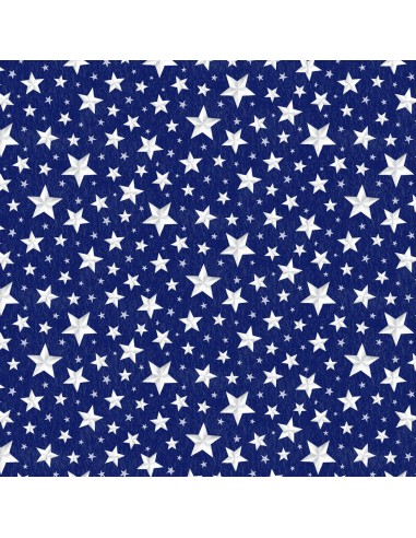 Tkanina bawełniana Blue Allover Stars