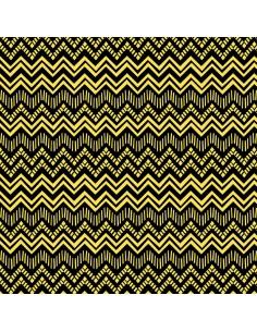Black Yellow Zig Zag Stripe...