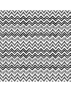 Black White Zig Zag Stripe...