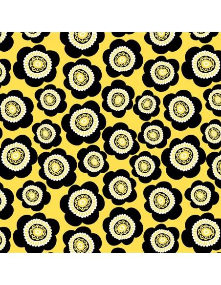 Tkanina bawełniana Yellow Packed Daisies