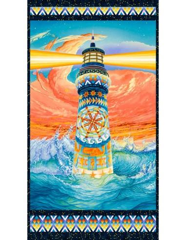 Panel bawełniany Multi Lighthouse