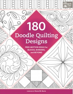 """180 Doodle Quilting Designs"" book Karen Burns"