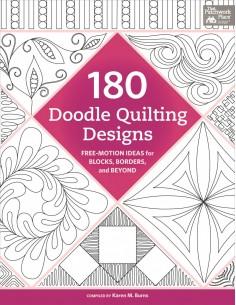 "Książka ""180 Doodle Quilting Designs"" Karen Burns"