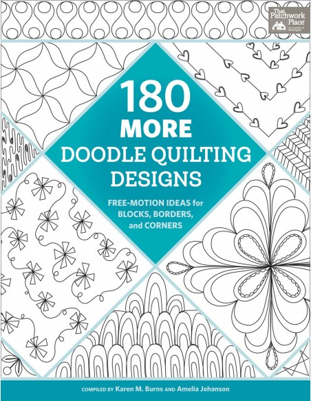 "Książka ""180 More Doodle Quilting Designs"" Karen Burns"