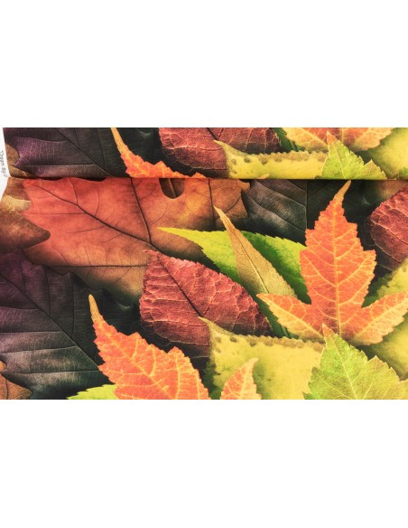 Panel bawełniany Autumn Dream Big Leaf