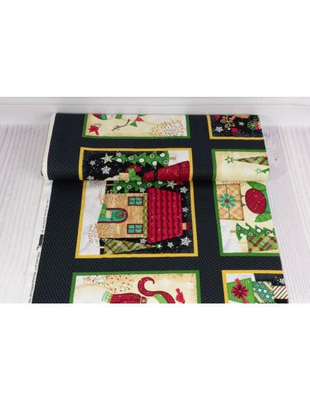 Panel bawełniany Black Christmas