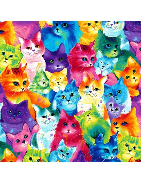 Tkanina bawełniana Multi Packed Cats