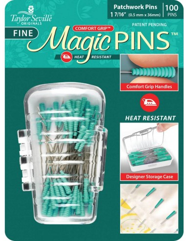 Szpilki cienkie Magic Fine Pins Patchwork 100 szt.