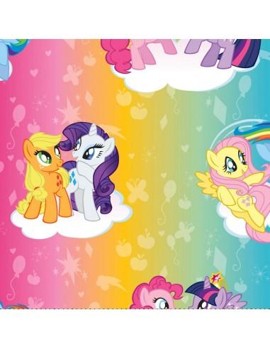 Tkanina bawełniana Kucyki Pony Ombre Toss