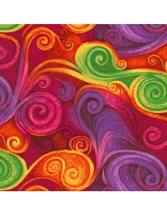 Multi Spiral cotton fabric
