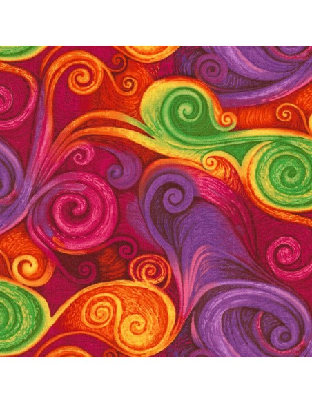 Tkanina bawełniana Multi Spiral