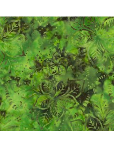 Spearmint Batik cotton fabric