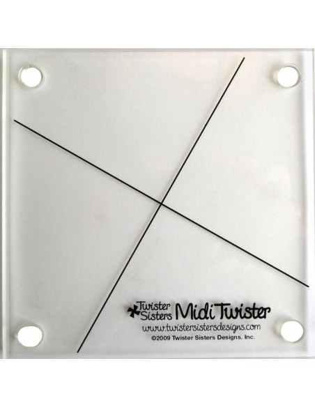 Linijka szablon Midi Twister Pinwheel wiatraczki